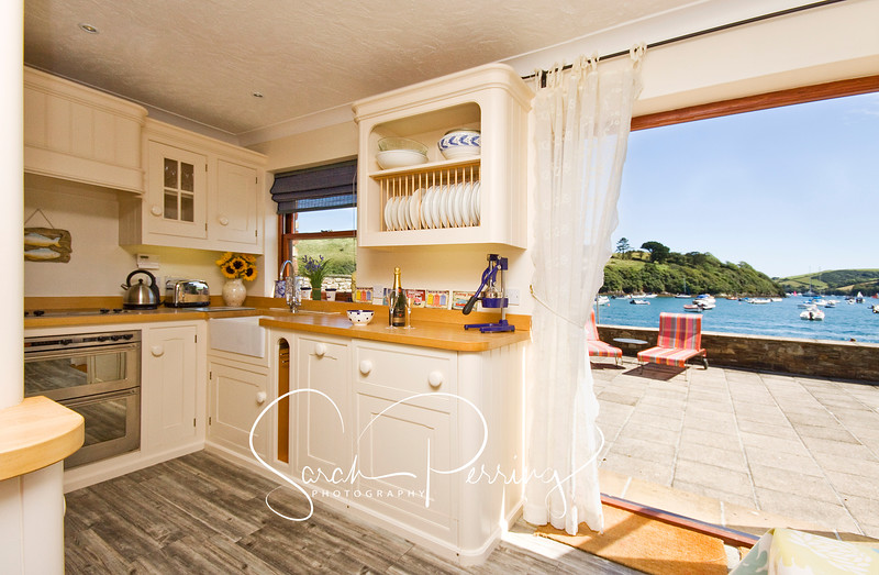 Kitchen looking out to the water