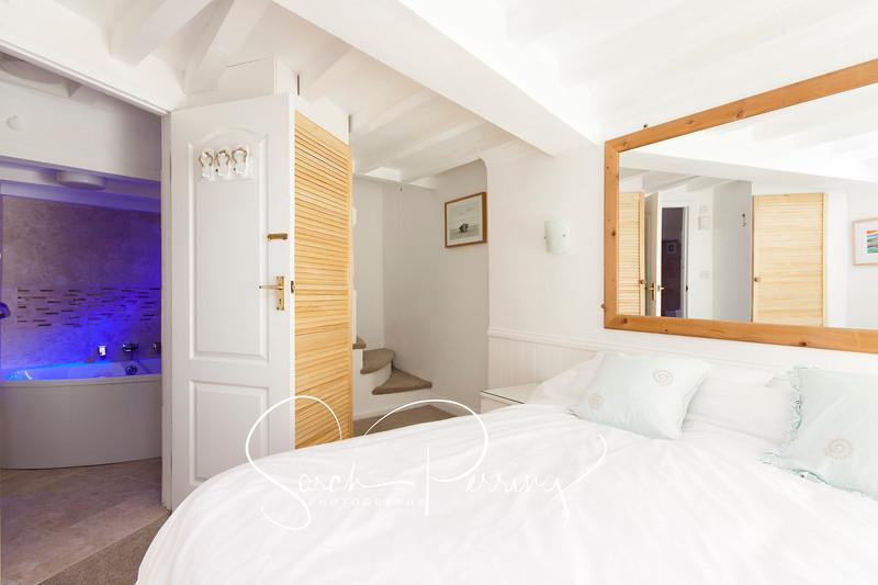 En-suite with subtle lighting