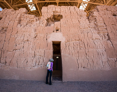 Scale of western doorway at the Great House, Casa Grande National Monument, Pinal County, Arizona