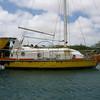 IMG_1050.JPG<br /> Cruising Aruba.<br /> Upside down lifeboat used as cabin top.