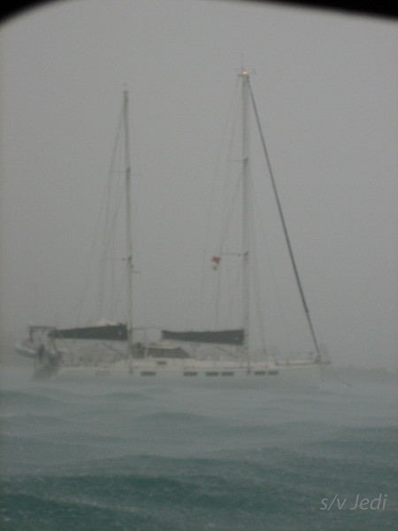 IMG_1029.jpg<br /> Cruising Aruba.<br /> The worst of the storm. The rain is so heavy that it put the waves down.