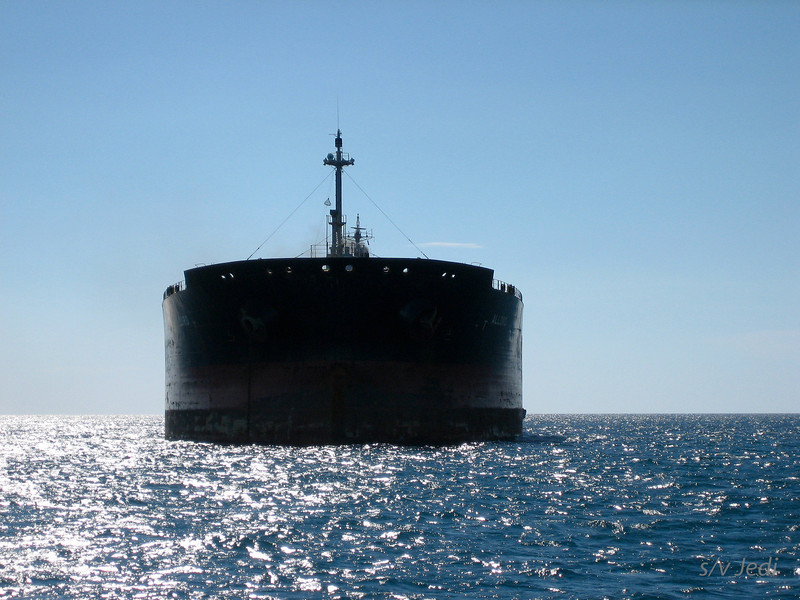 IMG_1073.JPG<br /> Cruising Aruba.<br /> Passing the bow of a super tanker.
