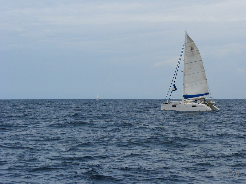 IMG_1020.JPG<br /> Cruising Aruba.<br /> Blue Print Match in the foreground and Gecko far to leeward. Jedi passing them all to windward ;-)