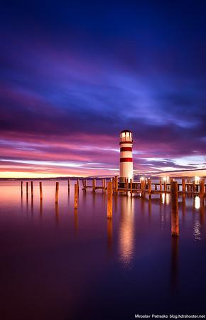 Purple sky around the Lighthouse