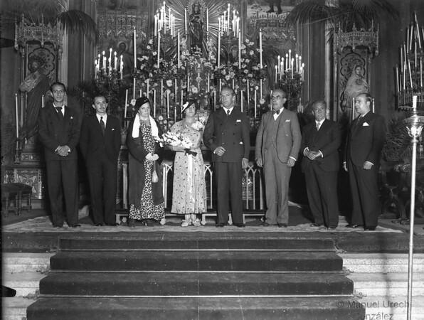 Boda de mis padres en Los Jerónimos en 1932. Mi abuelo a la izquierda del novio.
