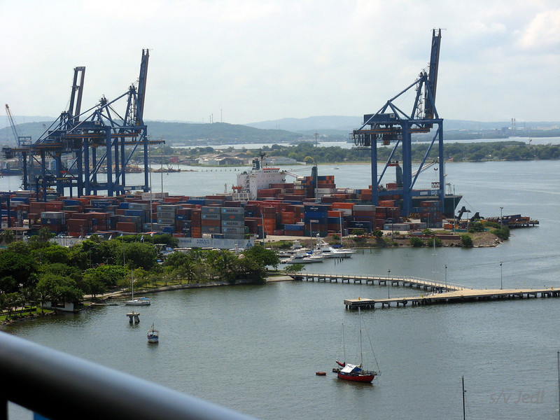 IMG_1306.JPG<br /> Cruising Colombia: Cartagena<br /> The container terminal.