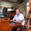 IMG_1198.JPG<br /> Cruising Colombia: Bahia Gairaca.<br /> Working on our logs and navigation.