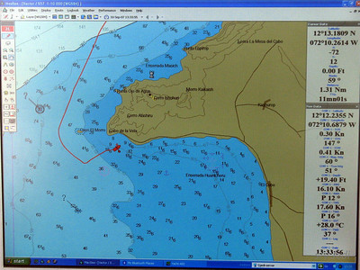 IMG_1159.JPG Cruising Colombia: Cabo de la Vela. Our track and anchorage. Wind is under 20 knots now and the sea water is 28 degrees Celcius again.