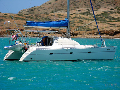 IMG_1157.JPG Cruising Colombia: Cabo de la Vela. Gecko at anchor in 35 knots of wind this time ;-)