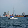 IMG_1243.JPG<br /> Cruising Colombia: Cartagena<br /> We let Gecko take point because we must enter a very shallow Boca.
