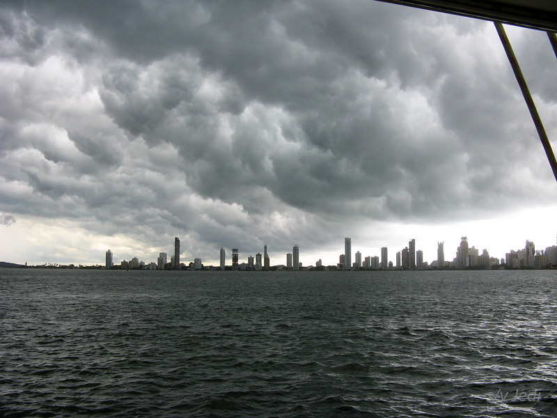 IMG_1309.JPG<br /> Cruising Colombia: Cartagena<br /> And a squall coming in.