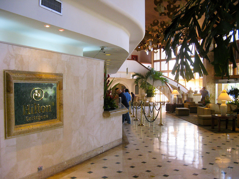 IMG_1325.JPG<br /> Cruising Colombia: Cartagena<br /> The Hilton lobby.