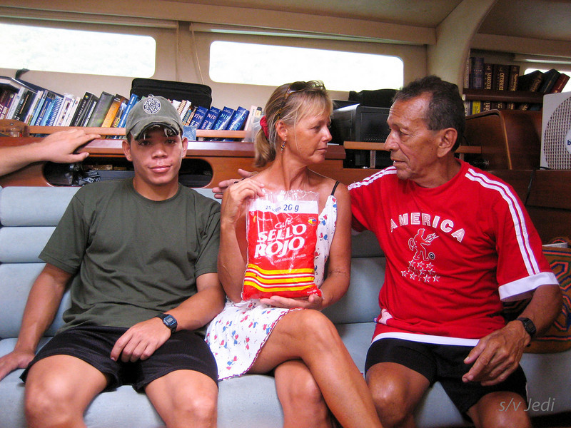 IMG_1199.JPG<br /> Cruising Colombia: Bahia Gairaca.<br /> Reinaldo wants to trade Colombian coffee for canned food.