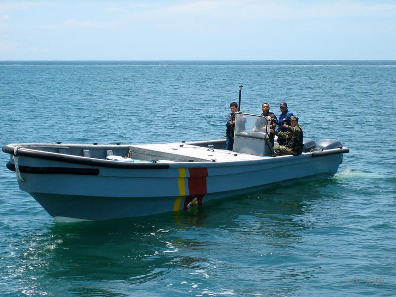 IMG_1205.JPG<br /> Cruising Colombia: Rodadero<br /> Boarding by the coast guard of Santa Marta. Very nice fellows.