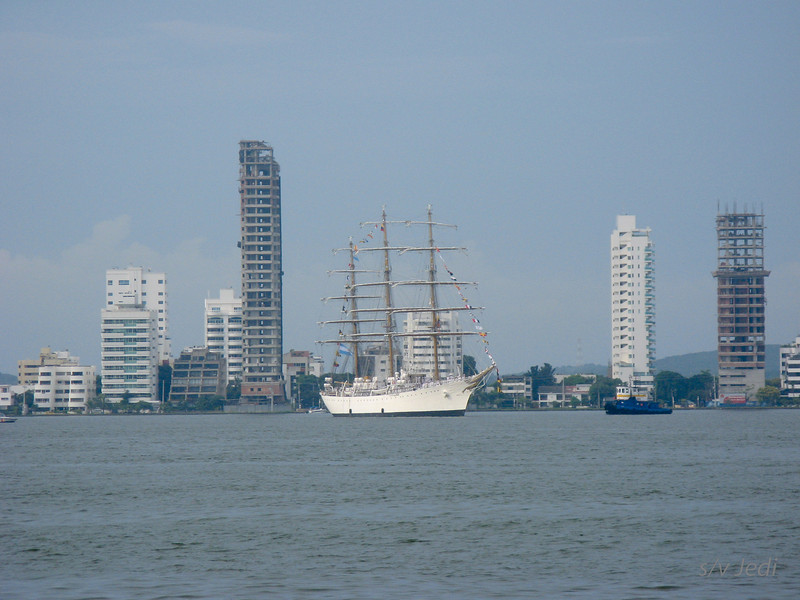 IMG_1330.JPG<br /> Cruising Colombia: Cartagena<br /> The Argentinian tall ship Libertad visiting Cartagena with a lot of cannon fire and show.