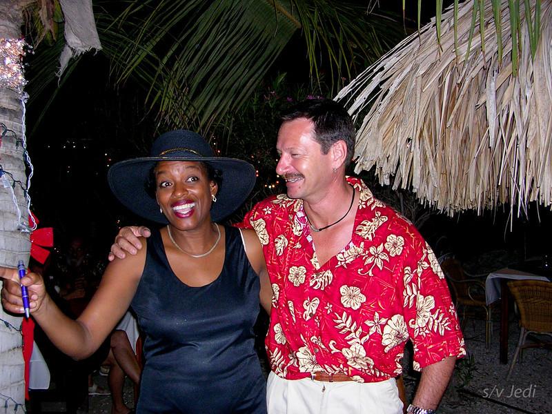 Cruising Curacao: Spaanse Water<br /> Mavis is looking very elegant which Pim (Prospera) can appreciate.