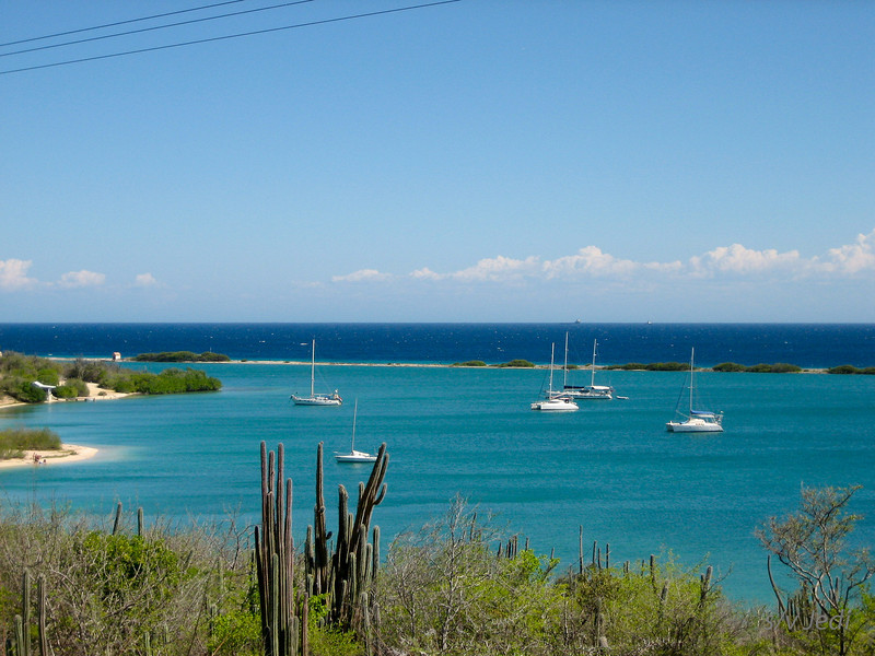 IMG_0990.jpg<br /> Cruising in Curacao.<br /> Fuik Baai seen from the hills. Look at the water colors!