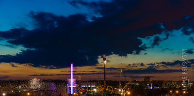 Elitch Gardens at Sunset