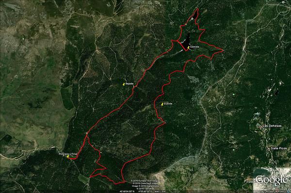 La ruta marcada en Google Earth<br /> <br /> The route outlined in Google Earth