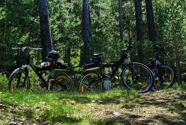 Las bicis nos esperan para el regreso.<br /> <br /> Bikes are waiting for us.