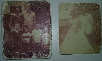 Photos he kept in his wallet