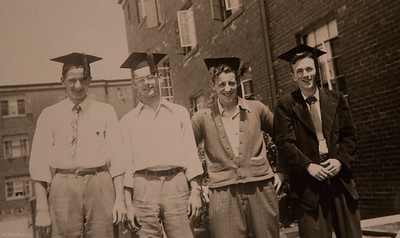 Pittsburgh, 1950, HIgh School graduation, Jack, Dick, Bob & Harry (left to right)