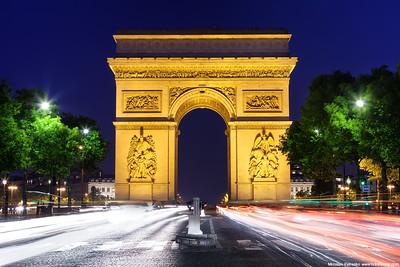 Evening at the Arc de Triomphe