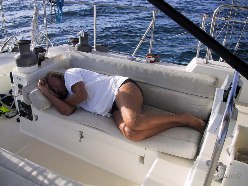 Cruising Grenada: Carriacou<br /> Life of a ship's captain is not always easy, now I need to sleep.