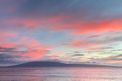 Sunset over Lanai Island