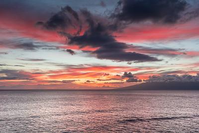 Sunset over Moloka'i Island 3