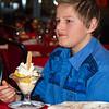 Diner bij Sjaan<br /> Garnalen-ijs