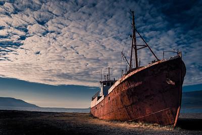 Garðar BA 64 oldest steel ship in Iceland