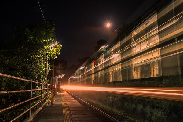 Spirited Away Train At Totoro's Bus Stop