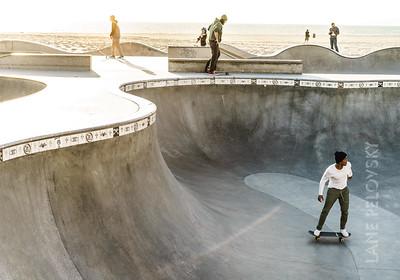 Skaters in Venice