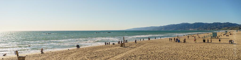 Santa Monica Beach Panorama