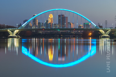 Lowry Ave Bridge - Blue Impulse