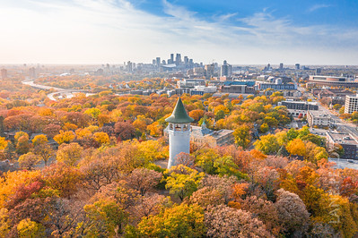 Witches Hat Water Tower - Minneapolis In the Fall