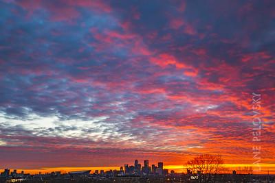 Minneapolis Fire Sunset