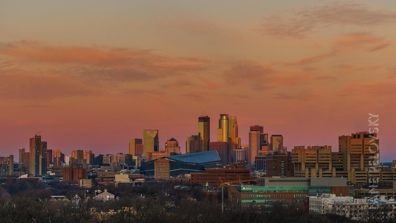 Sunrise over Minneapolis
