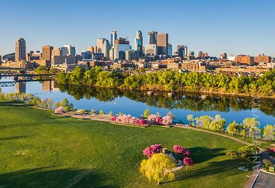 Spring in Minneapolis - Boom Island