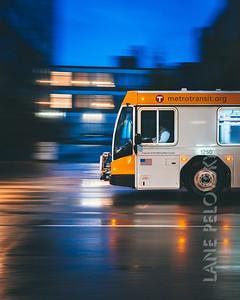 Metro Transit Bus Blur