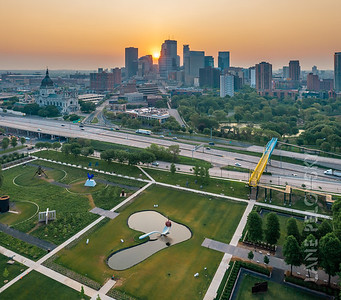 Downtown Minneapolis and the Sculpture Garden