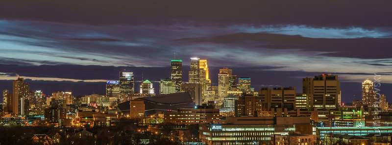 A Minneapolis Skyline in the clouds