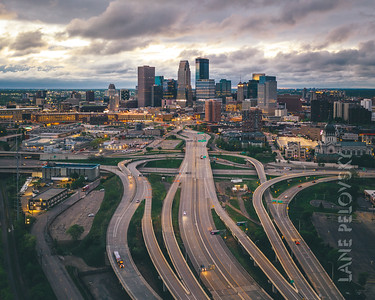 Minneapolis - Dramatic clouds on 394