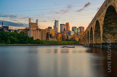 Mississippi Stone Arch Sunset