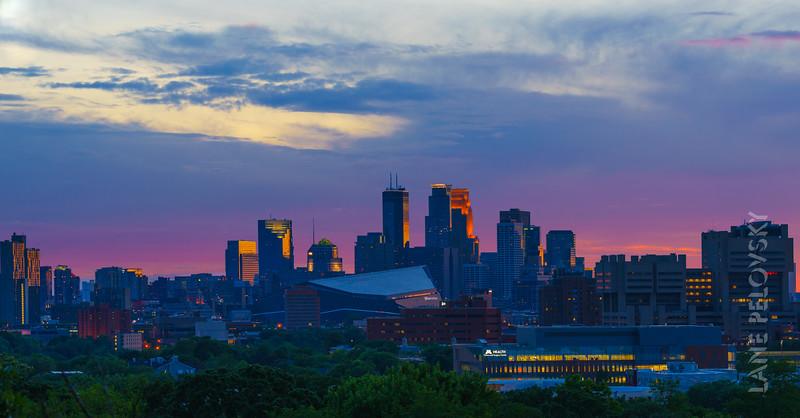 Skyline in Purple