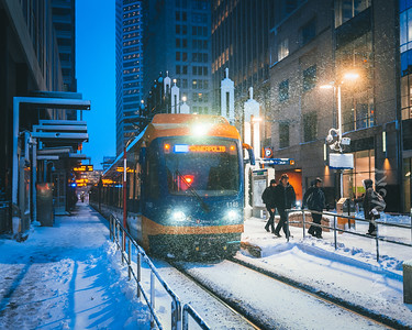 Light Rail in Winter 2