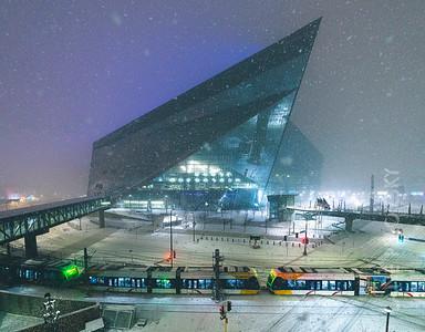 US Bank Stadium - Snow