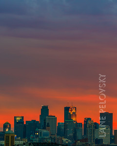 Colorful Minneapolis Skyline