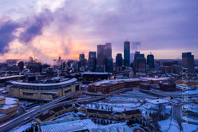 Minneapolis Skyline - Polar Vortex